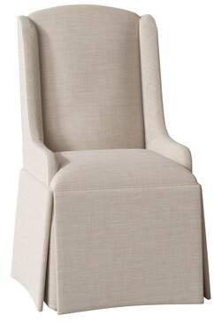 Red Barrel Studio Doric Petite Wing Back Skirted Upholstered Dining Chair Red Barrel Studio
