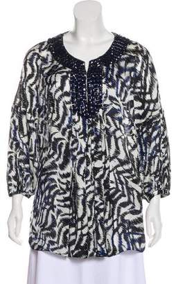 Magaschoni Embellished Long Sleeve Top