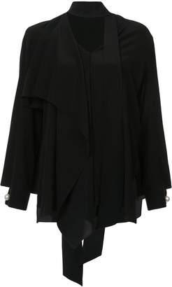 Fendi asymmetric layered blouse