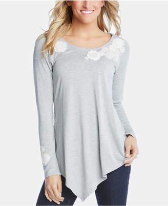 Karen Kane Embellished Long-Sleeve Top