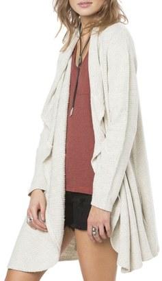 Women's O'Neill Bahman Drape Front Knit Cardigan $69.50 thestylecure.com