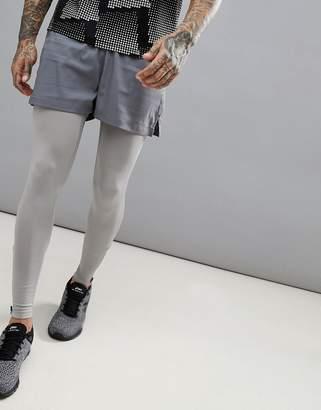 Asos 4505 Training Shorts In Short Length In Grey