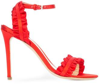 Monique Lhuillier ruffle detail stiletto sandals