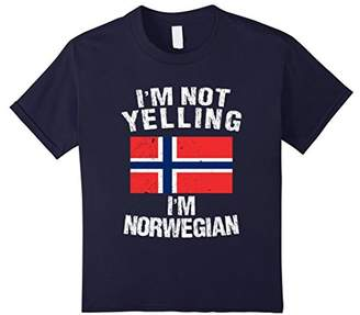 I'm Not Yelling I'm Norwegian Shirt - Norway Flag TShirt