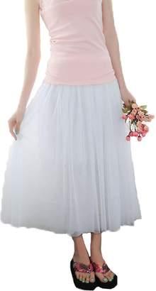 Angel Wings Women Five-layer Voile Puff Princess Skirt,petticoat Knee-length Mini Dress