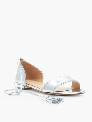 Talbots Keri Tasseled Ankle-Strap Sandals - Mirror Metallic
