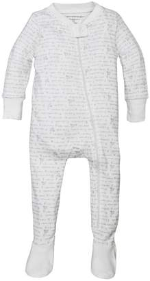 Burt's Bees Alphabet Bee Organic Baby Zip Up Footed Pajamas