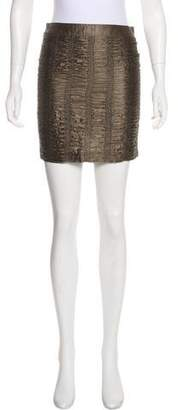 Burberry Ruched Mini Skirt w/ Tags