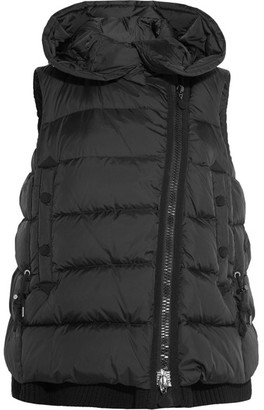 Moncler - Laurie Quilted Shell Down Gilet - Black $1,515 thestylecure.com