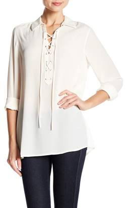 Foxcroft Leah Lace-Up Shirt