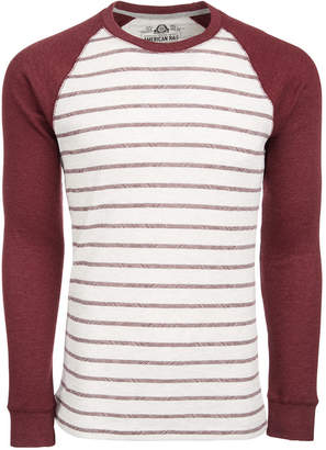 American Rag Men's Hash Stripe Raglan-Sleeve Thermal T-Shirt