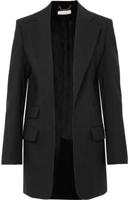 Chloé Wool And Silk-blend Blazer - Black