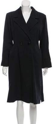 Saint Laurent Long Button-Up Coat