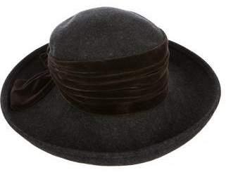 Eric Javits Velvet-Trimmed Wool Hat