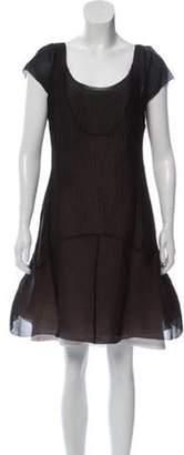 Marc Jacobs Short Sleeve Mini Dress Beige Short Sleeve Mini Dress