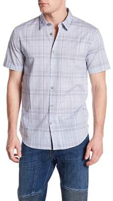 John Varvatos Plaid Print Regular Fit Shirt