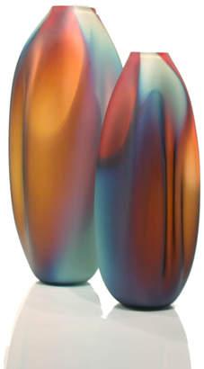 """Tsunami Glassworks Hand-Blown Glass Vase """"Drape"""""""