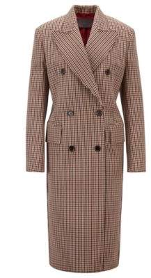 BOSS Hugo Made in Germany double-breasted coat peak lapels 4 Light Brown