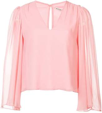 Alice + Olivia Alice+Olivia flared long-sleeve shirt