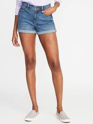 Old Navy High-Rise Secret-Slim Pockets Cuffed Denim Shorts for Women - 3-inch inseam