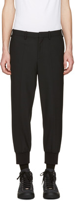 Neil Barrett Black Cuff Detail Trousers $450 thestylecure.com