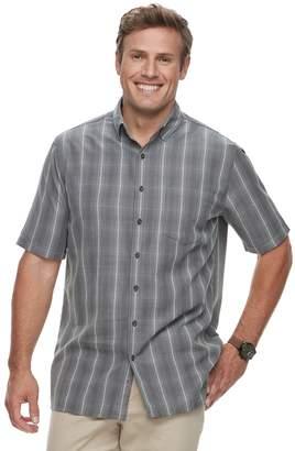 Croft & Barrow Big & Tall Regular-Fit Microfiber Woven Easy-Care Button-Down Shirt