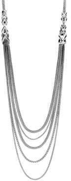 John Hardy Chain Silver Five-Strand Bib Necklace