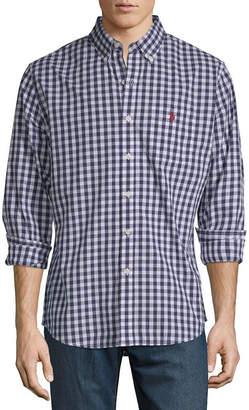 U.S. Polo Assn. USPA Long Sleeve Gingham Button-Front Shirt