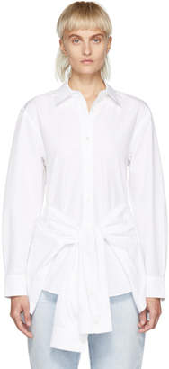 Alexander Wang White Front Tie Shirt