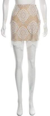 For Love & Lemons Crochet Mini Skirt