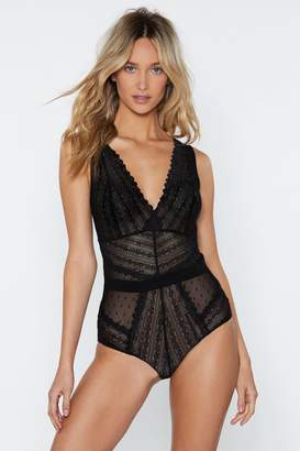 Nasty Gal If You Had My Love Mesh Bodysuit
