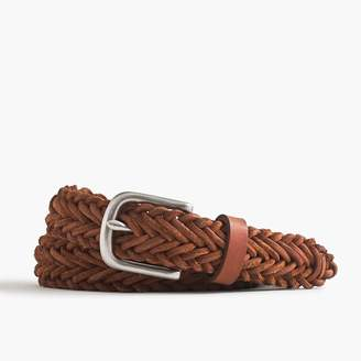 J.Crew Braided belt in rugged leather