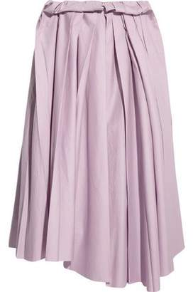 Marni Pleated Cotton Midi Skirt
