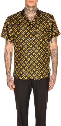 Givenchy 4G Cubism Print Shirt in Black & Gold | FWRD
