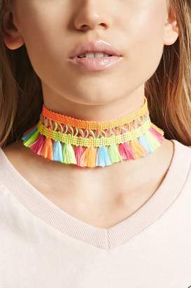 Forever 21 Multicolored Tassel Choker