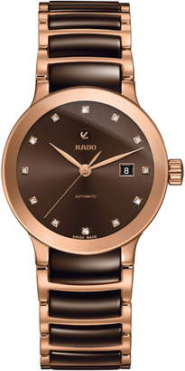 Rado Centrix Automatic Diamond Ceramic Bracelet Watch, 28mm