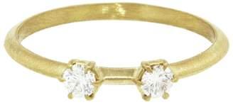 Jade Trau Double Diamond Kismet Ring - Yellow Gold