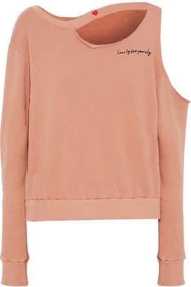 LnA Distressed French Cotton-Terry Sweatshirt