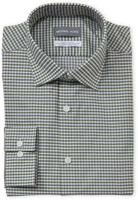 Michael Kors Gingham Regular Fit Dress Shirt