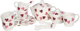 Emma Bridgewater Melamine Tea Set in Carry Case - Pink Hearts