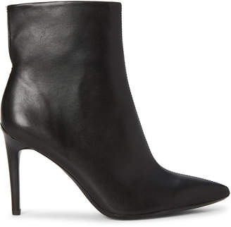 Calvin Klein Black Revel Leather Ankle Booties