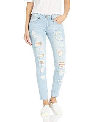 Cover Girl Cute Mid High Rise Waisted Ripped Torn Skinny Blue Juniors
