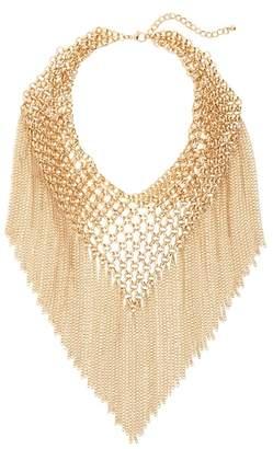 Cara Multi Chain Fringe Collar Necklace