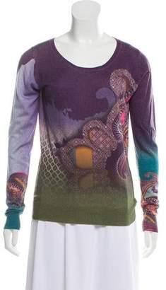 Etro Silk & Cashmere-Blend Printed Sweater
