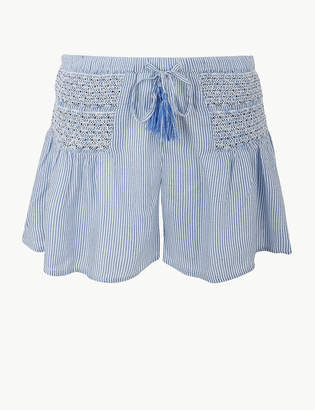 Marks and Spencer Pure Modal Embroidered Beach Shorts