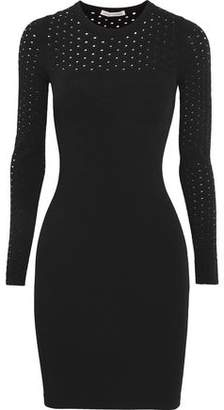 Autumn Cashmere Perforated Stretch-Knit Dress