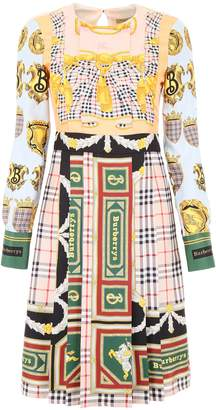 Burberry Logo Silk Dress