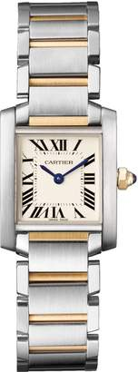 Cartier Small Stainless Steel and Yellow Gold Tank Francaise Watch 20mm