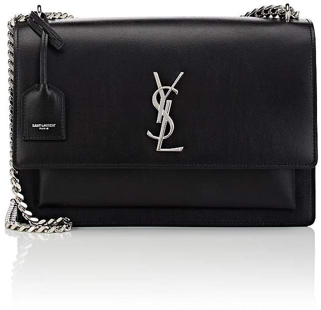 Saint Laurent Women's Monogram Sunset Large Leather Satchel