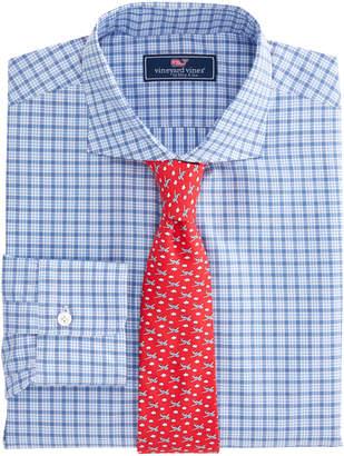 Vineyard Vines Tattersal Spread Collar Greenwich Shirt